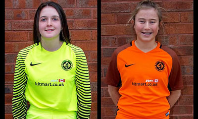 Goalkeeper Aaliyah-Jay Meach and defender Philippa McCallum