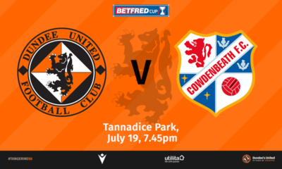 graphic showing utd and cowdenbeath logos.