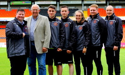 The Dundee United Community Trust  Team including DUCT Chair David Dorward