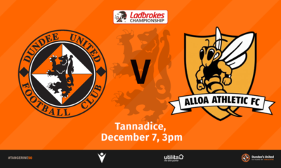 Alloa visit Tannadice this weekend