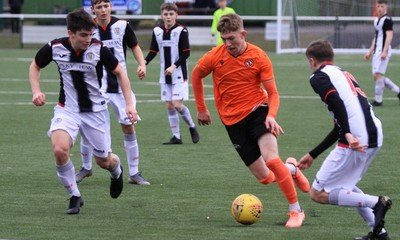 Kai Fotheringham on the attack for United