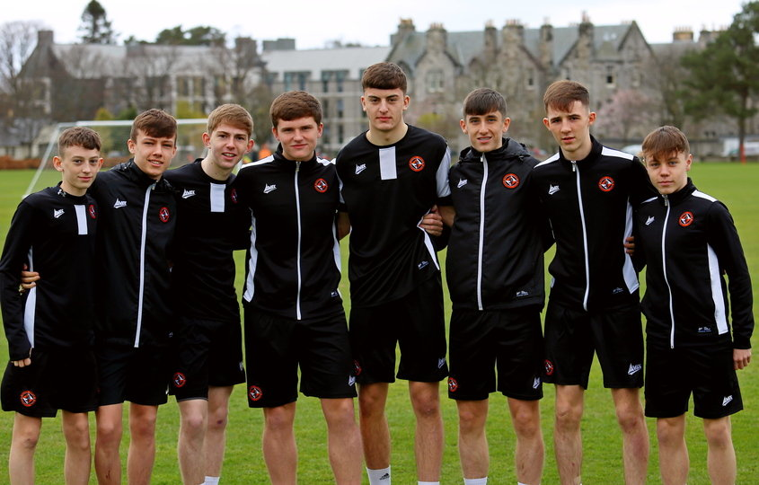 Pictured are (from left to right) Millar Thomson (U16) Archie Meekison (U18), Kai Fotheringham (U17), Adam Hutchinson (U17), Lewis Neilson (U17), Chris Mochrie (U17), Fin Malcolm (U16) and Sean Brown (U17). Missing from the picture was Dominik Naglik (U16